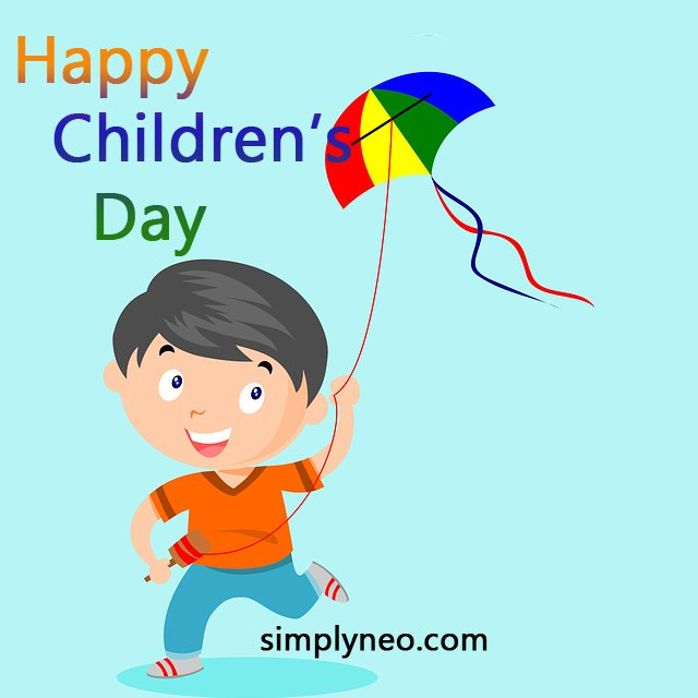 happy children's day wishes message picture